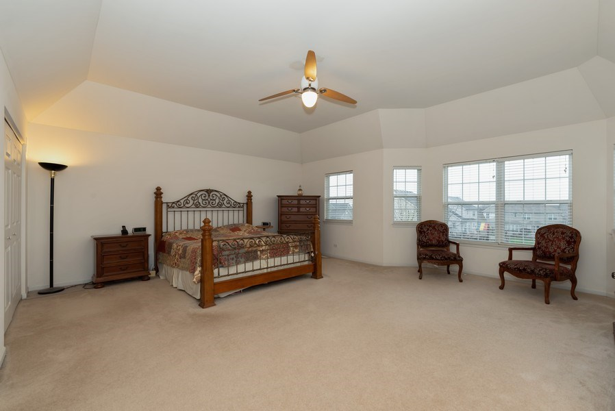 Real Estate Photography - 165 Hearthstone Drive, Bartlett, IL, 60103 - Master Bedroom