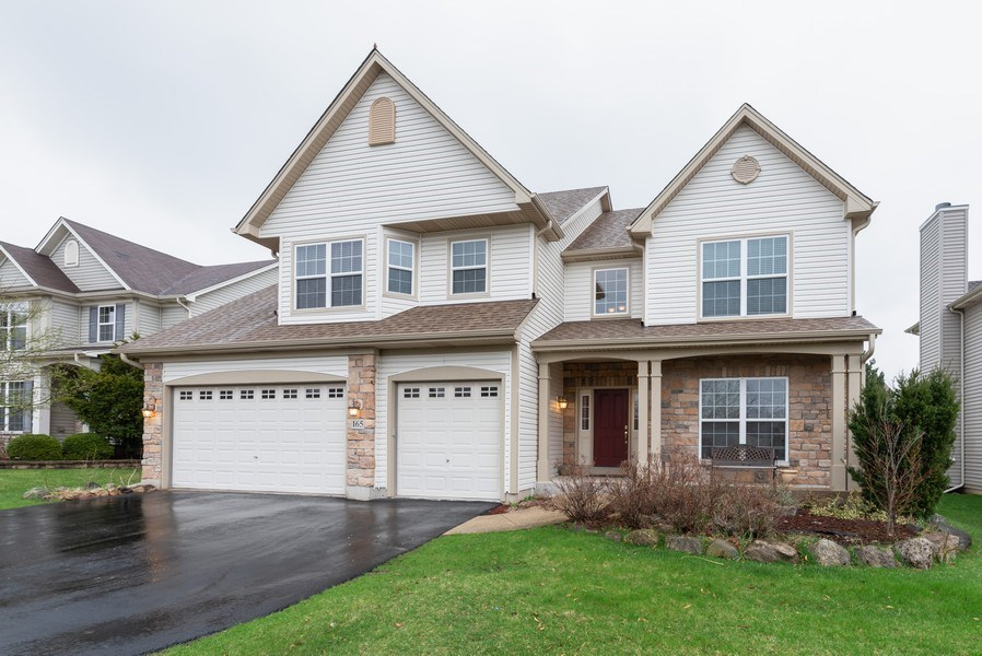 Real Estate Photography - 165 Hearthstone Drive, Bartlett, IL, 60103 - Front View