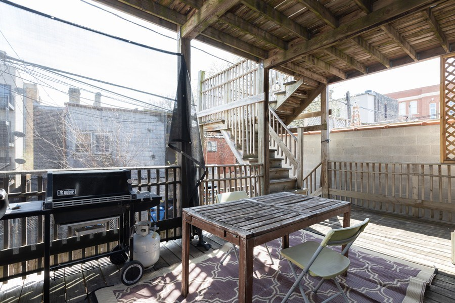 Real Estate Photography - 2647 W Cortez, Chicago, IL, 60622 - Deck