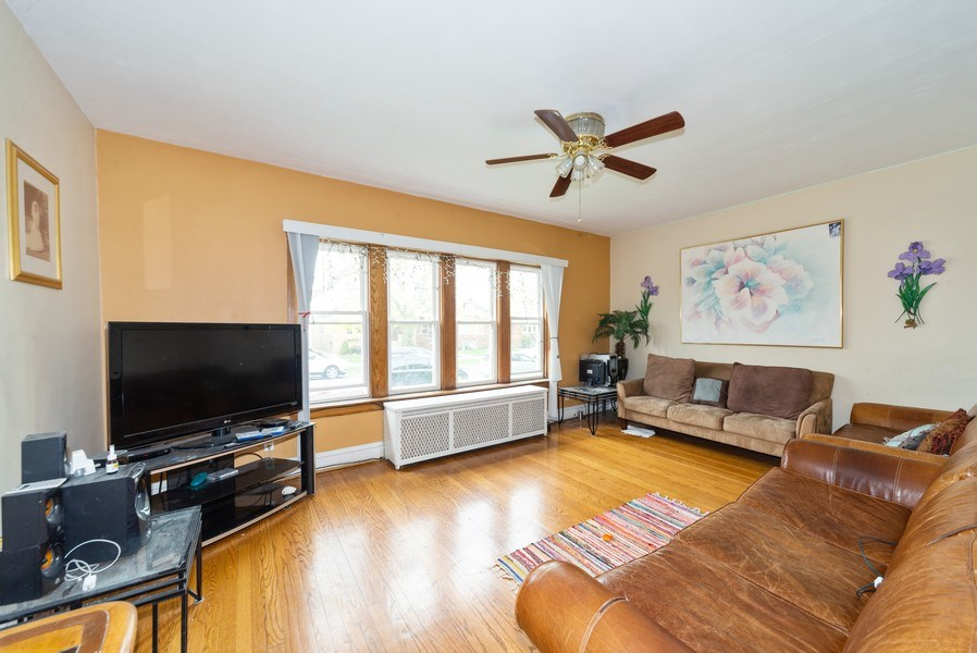 Real Estate Photography - 6140 W. Patterson, Chicago, IL, 60634 - Living Room
