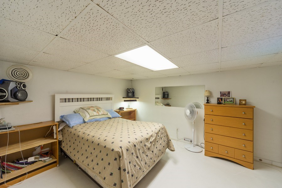 Real Estate Photography - 6140 W. Patterson, Chicago, IL, 60634 - Basement Bedroom