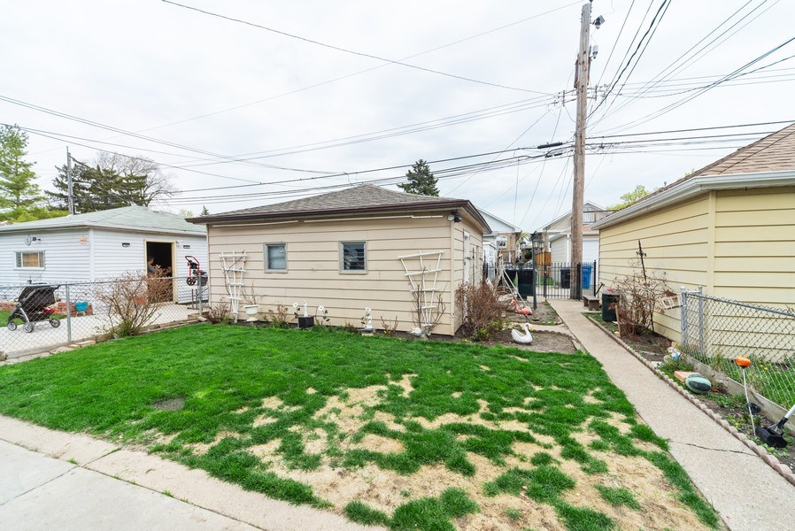 Real Estate Photography - 6140 W. Patterson, Chicago, IL, 60634 - Back Yard