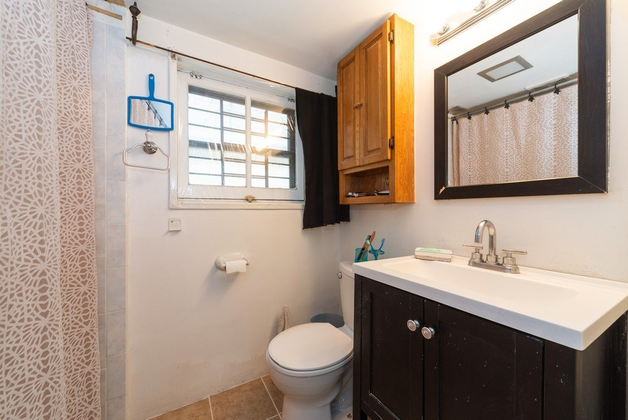 Real Estate Photography - 6140 W. Patterson, Chicago, IL, 60634 - Basement Bathroom