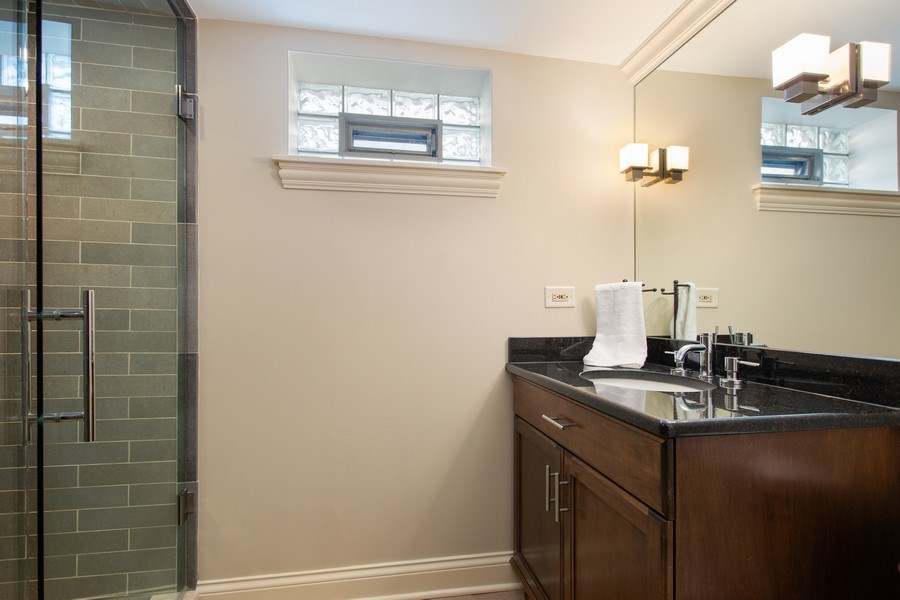 Real Estate Photography - 108 Oxford Ave., Clarendon Hills, IL, 60514 - Basement Bathroom