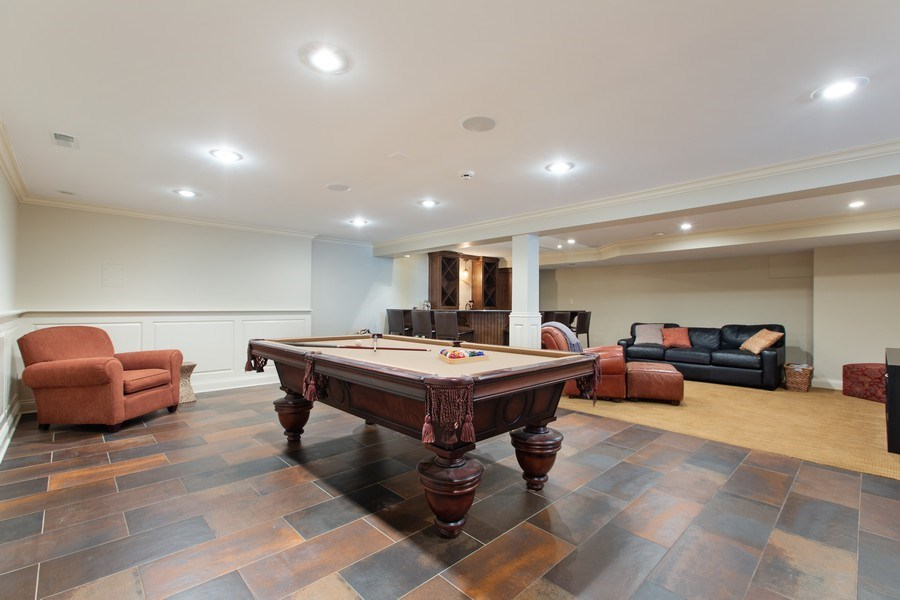 Real Estate Photography - 108 Oxford Ave., Clarendon Hills, IL, 60514 - Recreation Room