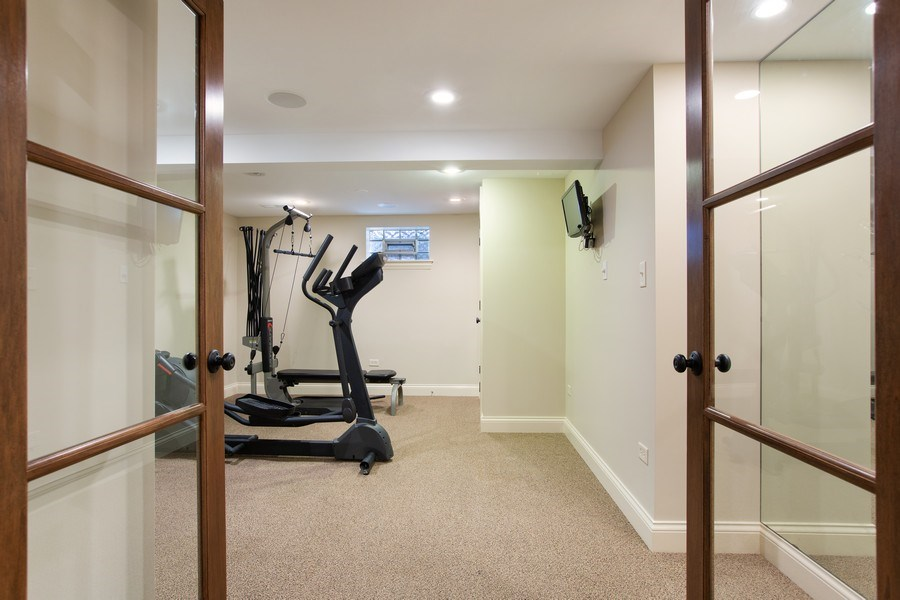 Real Estate Photography - 108 Oxford Ave., Clarendon Hills, IL, 60514 - Exercise Room