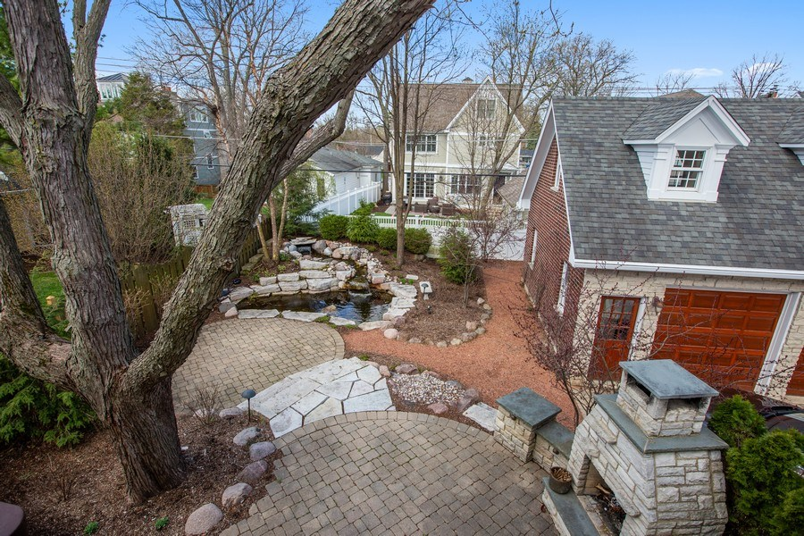 Real Estate Photography - 108 Oxford Ave., Clarendon Hills, IL, 60514 - View of Back Yard from Balcony