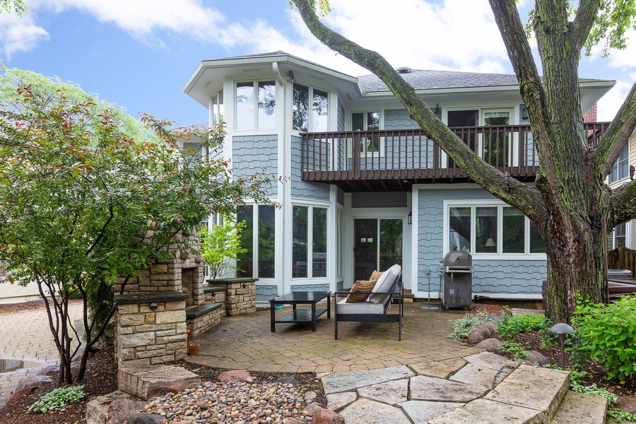 Real Estate Photography - 108 Oxford Ave., Clarendon Hills, IL, 60514 - Patio / Back of Home