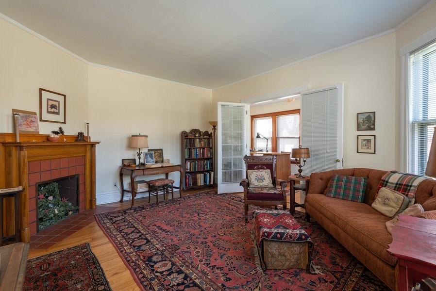Real Estate Photography - 2622 Prairie, Evanston, IL, 60201 - Unit 1 - LR with Den / Office
