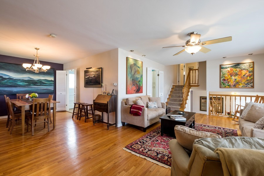 Real Estate Photography - 829 Lacrosse Ave, Wilmette, IL, 60091 - Living Room / Dining Room