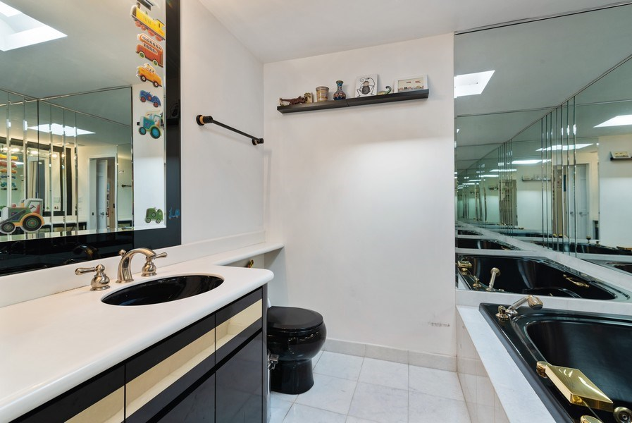 Real Estate Photography - 2423 Happy Hollow, Glenview, IL, 60026 - 3rd Bathroom