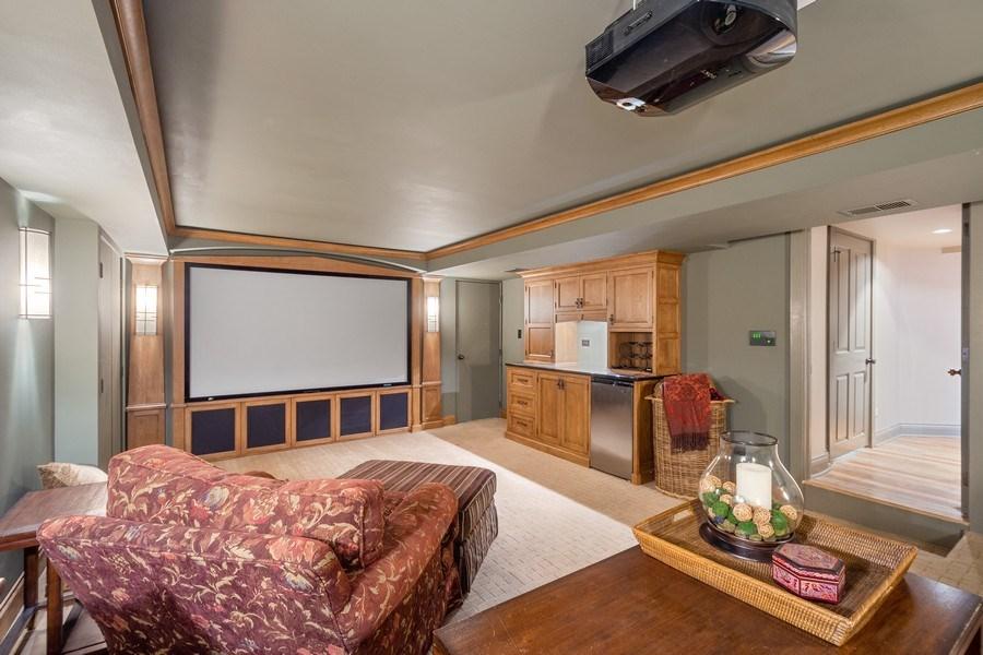 Real Estate Photography - 222 E. Colfax Street, Palatine, IL, 60067 - Media Room