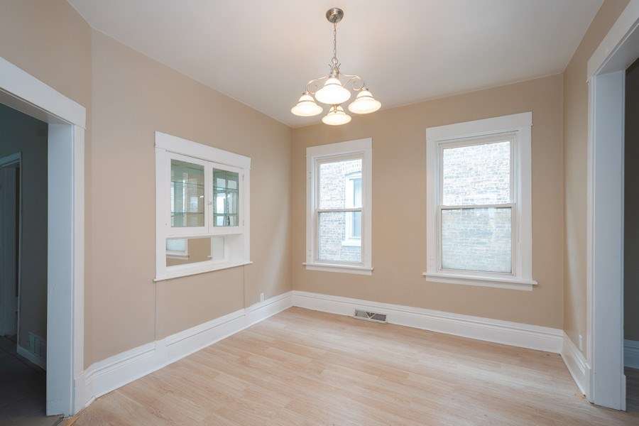 Real Estate Photography - 7823 S. Marquette Ave, Chicago, IL, 60649 - Dining Room