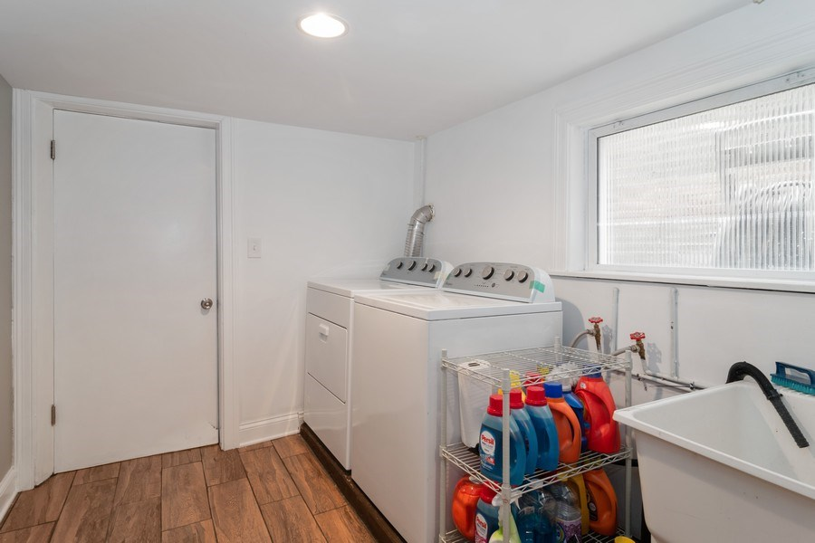 Real Estate Photography - 3137 Harvey Ave ,, Berwyn, IL, 60402 - Laundry Room