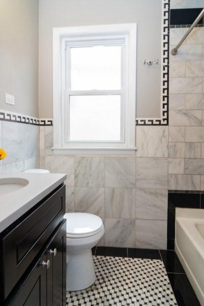 Real Estate Photography - 3137 Harvey Ave ,, Berwyn, IL, 60402 - Bathroom