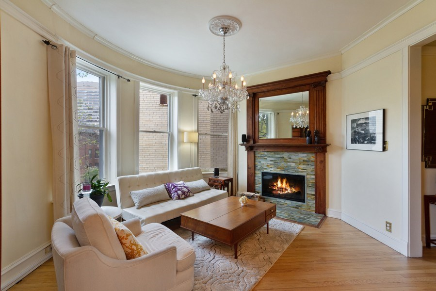 Real Estate Photography - 519 W. Surf, Chicago, IL, 60657 - Family Room