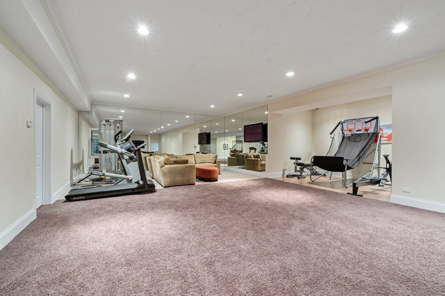 Real Estate Photography - 1549 Stratford Road, Deerfield, IL, 60015 - Exercise Room