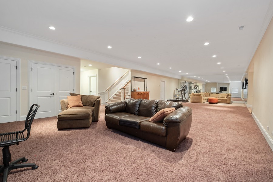 Real Estate Photography - 1549 Stratford Road, Deerfield, IL, 60015 - Recreation Room