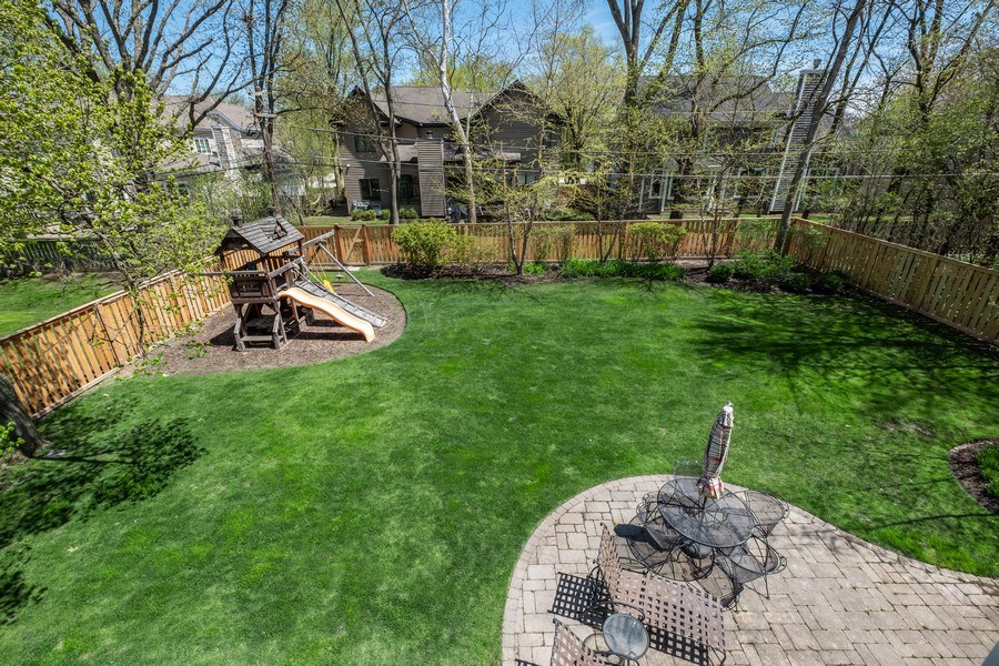 Real Estate Photography - 1549 Stratford Road, Deerfield, IL, 60015 - Fenced Backyard
