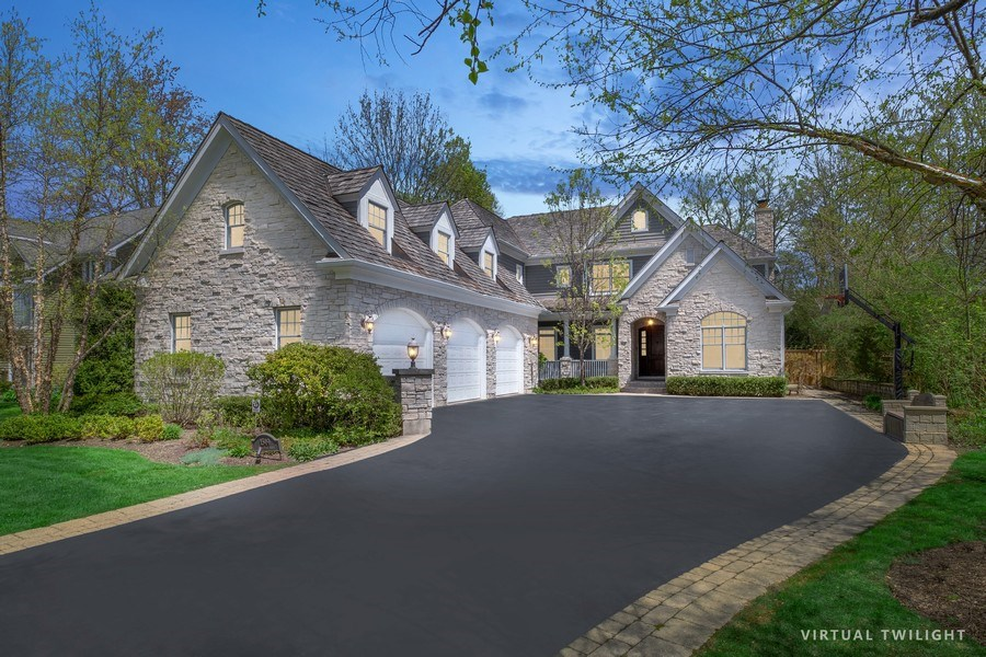 Real Estate Photography - 1549 Stratford Road, Deerfield, IL, 60015 - Evening View