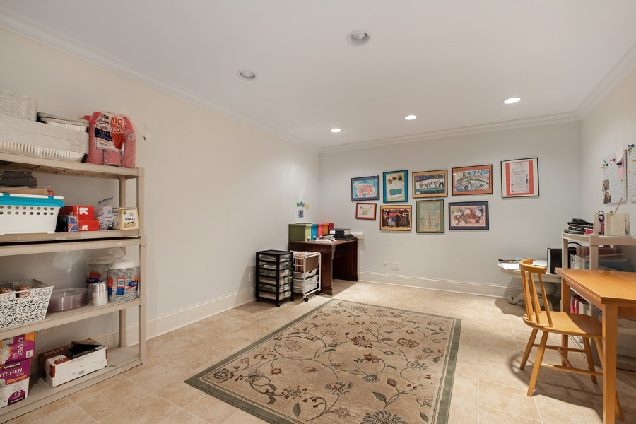 Real Estate Photography - 1549 Stratford Road, Deerfield, IL, 60015 - Basement Office