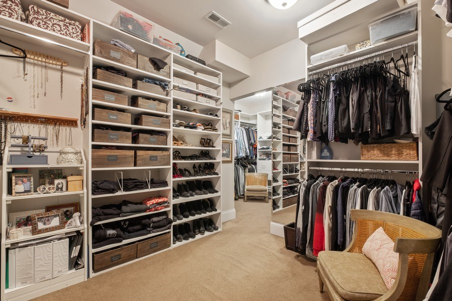 Real Estate Photography - 1549 Stratford Road, Deerfield, IL, 60015 - Master Bedroom Closet
