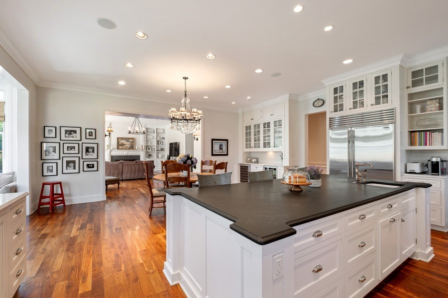 Real Estate Photography - 1549 Stratford Road, Deerfield, IL, 60015 - Family Room / Kitchen
