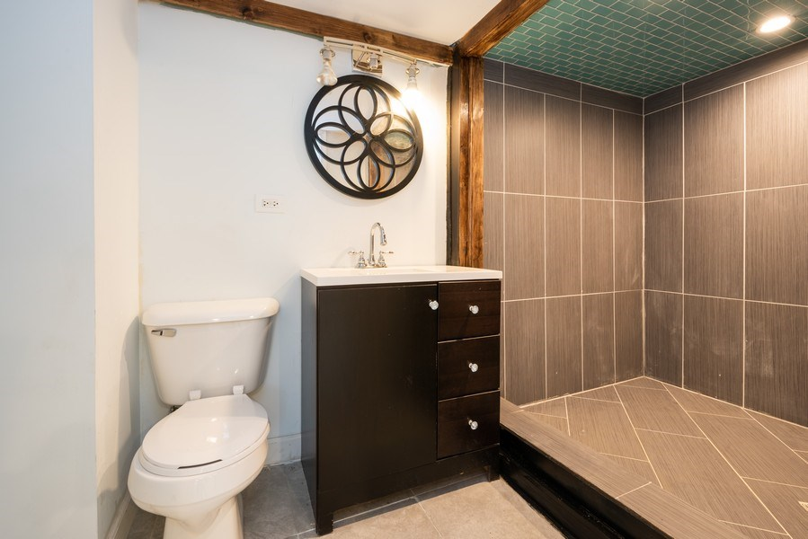 Real Estate Photography - 7633 S Dobson, Chicago, IL, 60619 - 2nd Bathroom