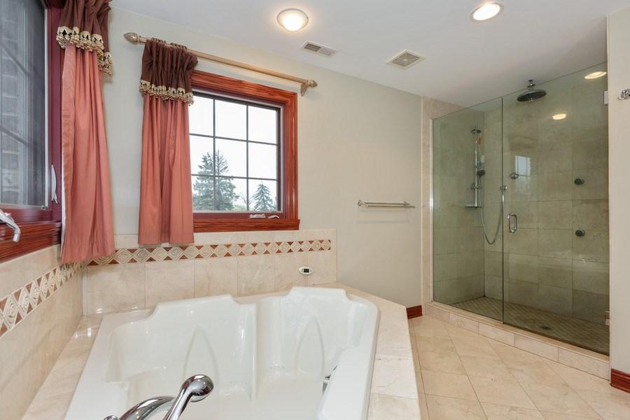 Real Estate Photography - 8179 Wolf Road, La Grange, IL, 60525 - Master Bathroom
