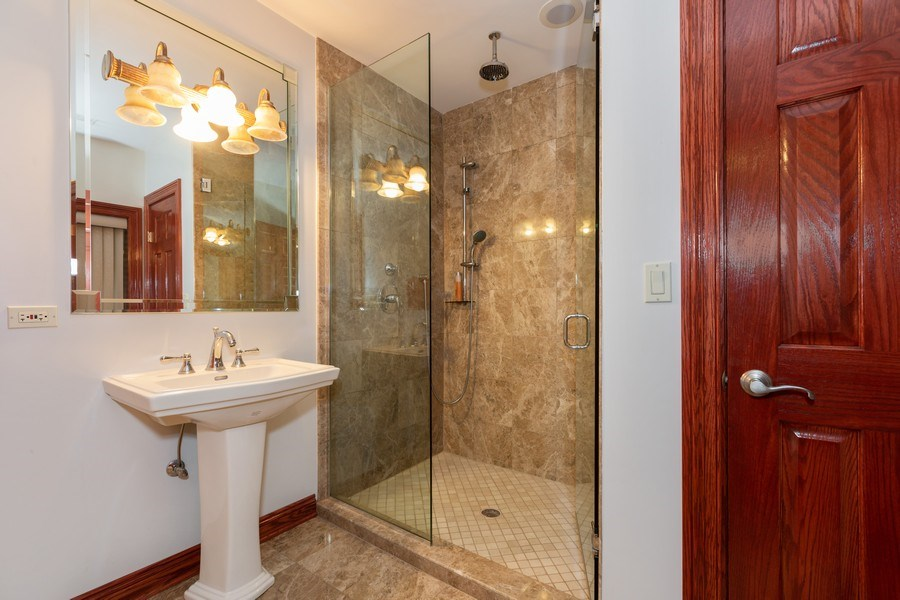 Real Estate Photography - 8179 Wolf Road, La Grange, IL, 60525 - Bathroom