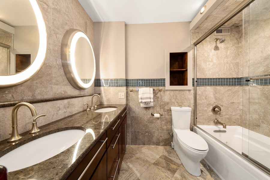 Real Estate Photography - 990 N Lake Shore Dr, 26D, Chicago, IL, 60611 - Master Bathroom