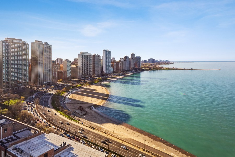 Real Estate Photography - 990 N Lake Shore Dr, 26D, Chicago, IL, 60611 - View
