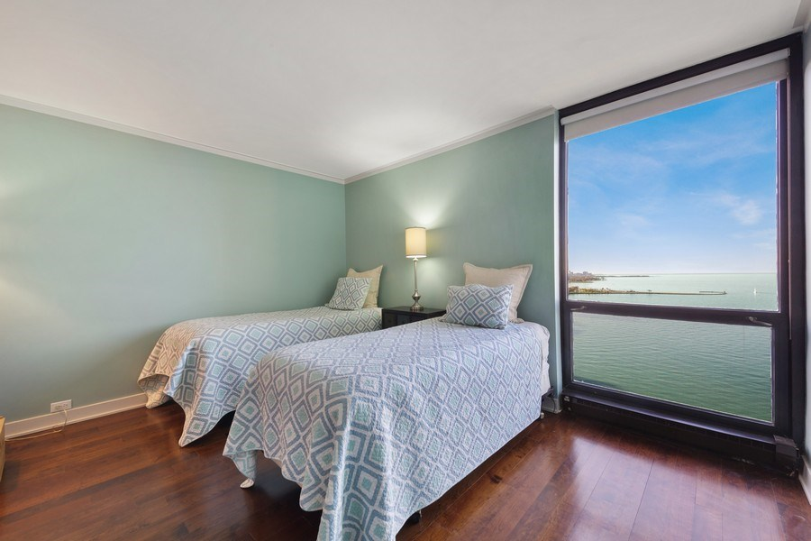 Real Estate Photography - 990 N Lake Shore Dr, 26D, Chicago, IL, 60611 - Bedroom