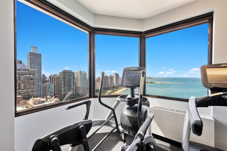 Real Estate Photography - 990 N Lake Shore Dr, 26D, Chicago, IL, 60611 - Fitness Room