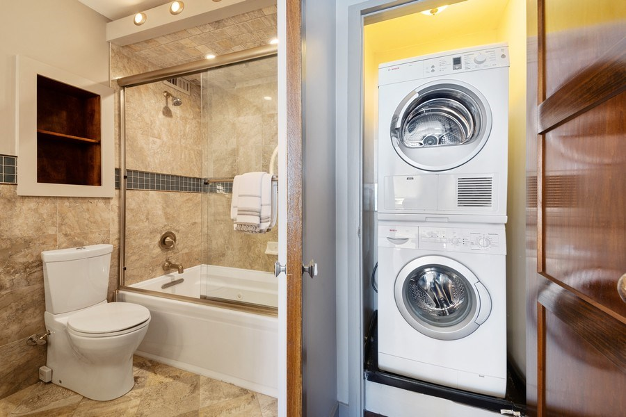 Real Estate Photography - 990 N Lake Shore Dr, 26D, Chicago, IL, 60611 - Laundry Room
