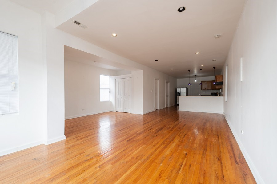 Real Estate Photography - 1620 N Troy St, Chicago, IL, 60647 - Living Room/Dining Room