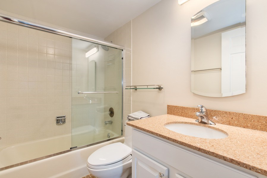 Real Estate Photography - 708 Orleans Dr, Highland Park, IL, 60035 - Guest Bathroom
