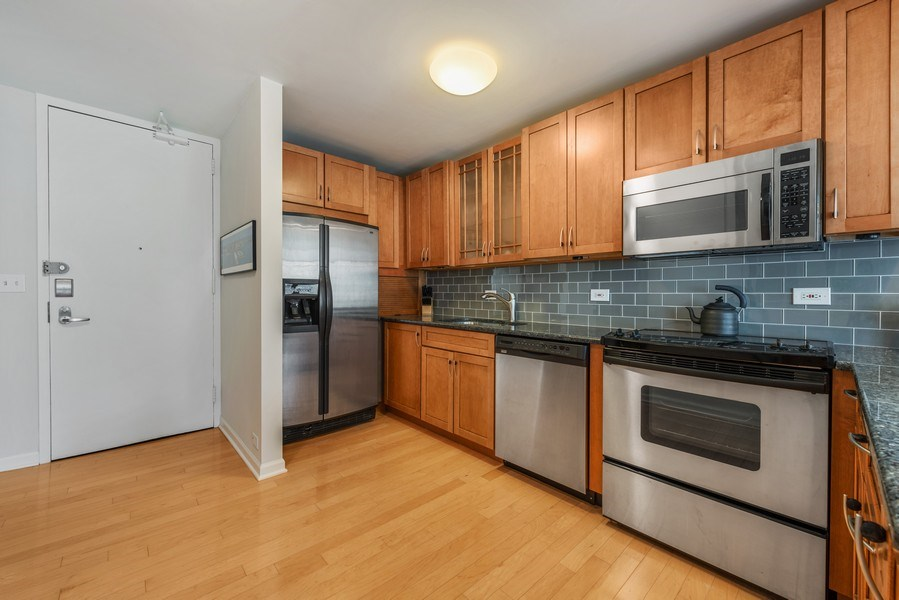 Real Estate Photography - 505 N Lakeshore Drive, Unit 602, Chicago, IL, 60611 - Kitchen