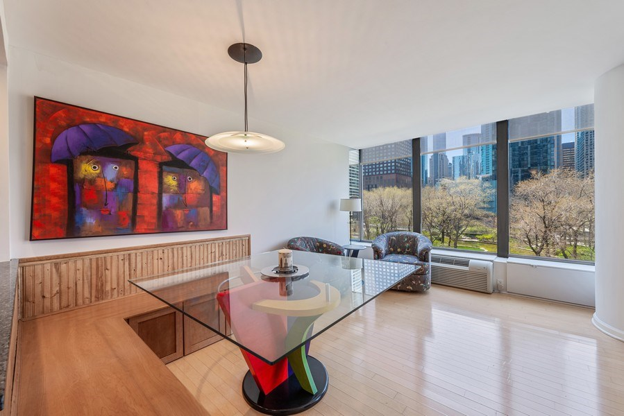 Real Estate Photography - 505 N Lakeshore Drive, Unit 602, Chicago, IL, 60611 - Dining Room