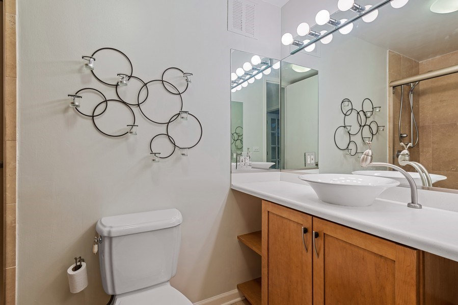 Real Estate Photography - 505 N Lakeshore Drive, Unit 602, Chicago, IL, 60611 - Bathroom