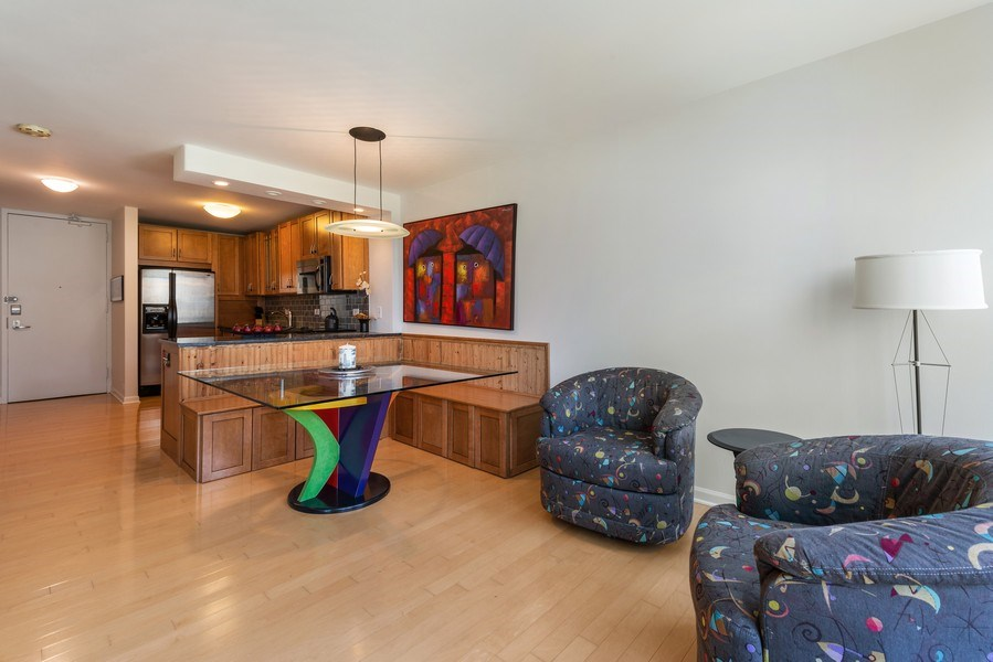 Real Estate Photography - 505 N Lakeshore Drive, Unit 602, Chicago, IL, 60611 - Kitchen / Dining Room