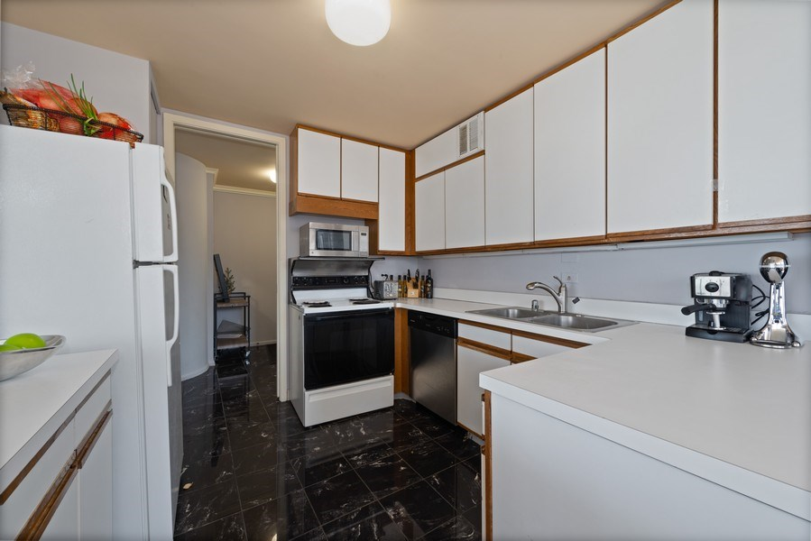 Real Estate Photography - 505 N Lakeshore Drive, Unit 2116, Chicago, IL, 60611 - Kitchen