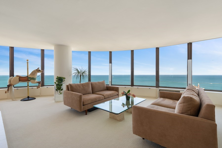 Real Estate Photography - 505 N Lakeshore Drive, Unit 4303, Chicago, IL, 60611 - Living Room