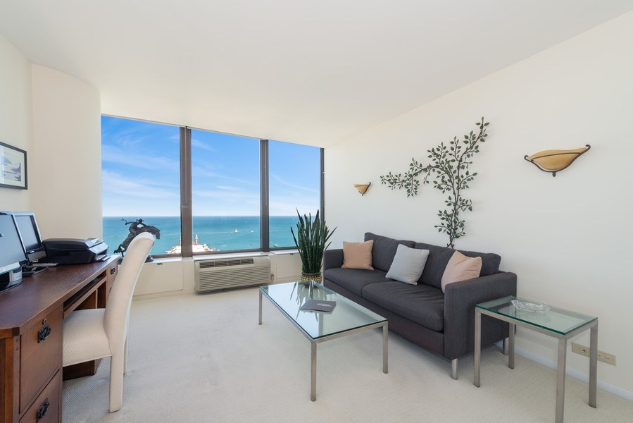 Real Estate Photography - 505 N Lakeshore Drive, Unit 4303, Chicago, IL, 60611 - 2nd Bedroom