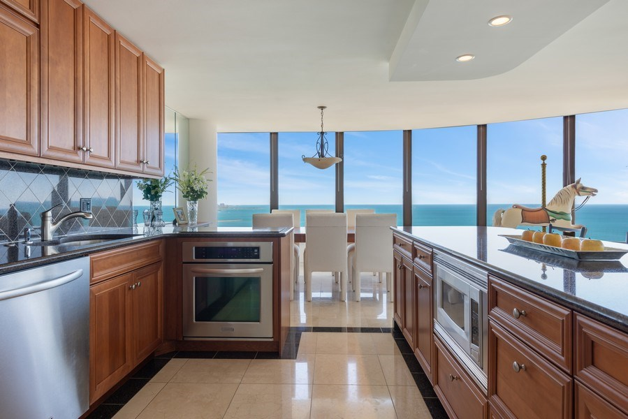 Real Estate Photography - 505 N Lakeshore Drive, Unit 4303, Chicago, IL, 60611 - Kitchen