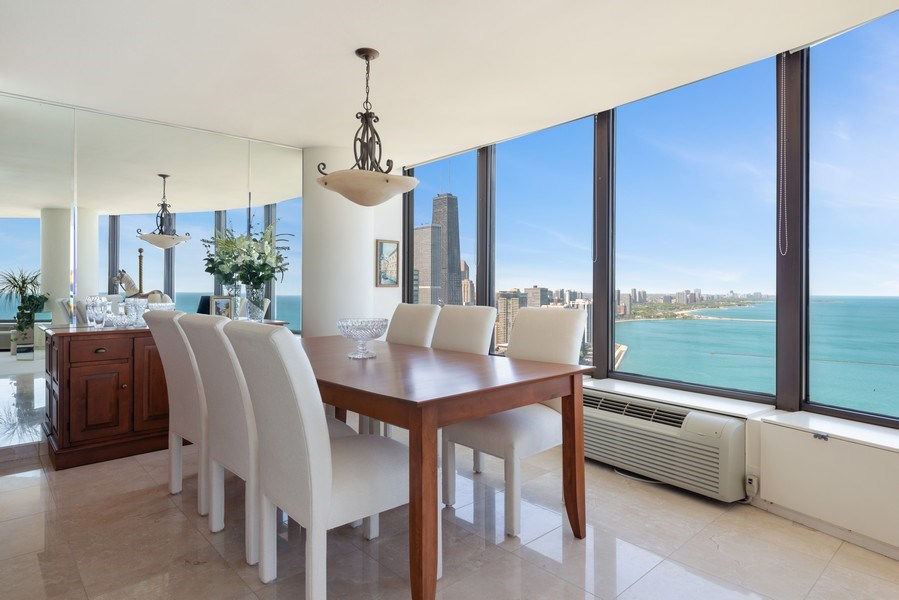 Real Estate Photography - 505 N Lakeshore Drive, Unit 4303, Chicago, IL, 60611 - Dining Room
