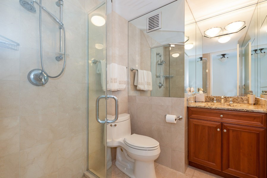 Real Estate Photography - 505 N Lakeshore Drive, Unit 4303, Chicago, IL, 60611 - 2nd Bathroom