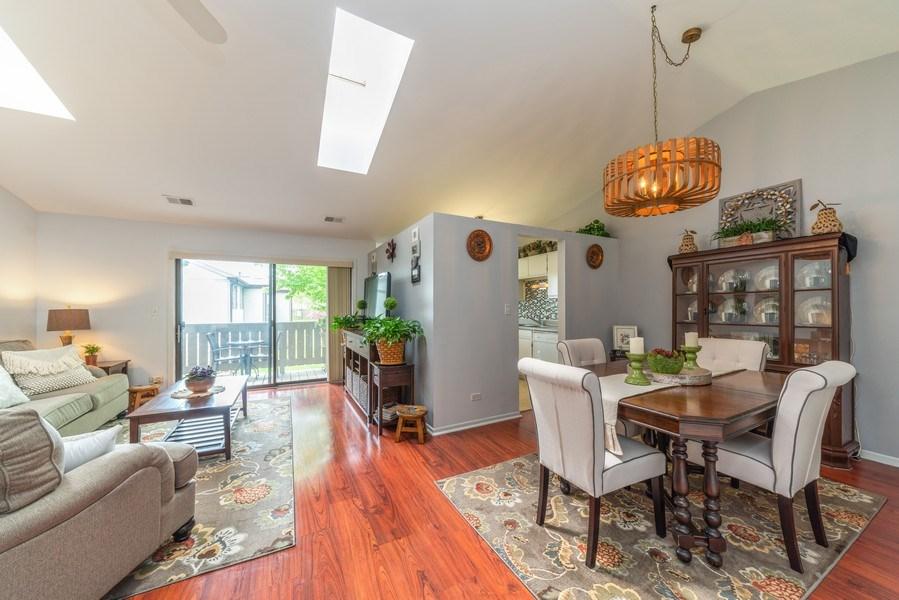 Real Estate Photography - 4120 N Mallard Drive, Unit 4, Arlington Heights, IL, 60004 - Living Room / Dining Room