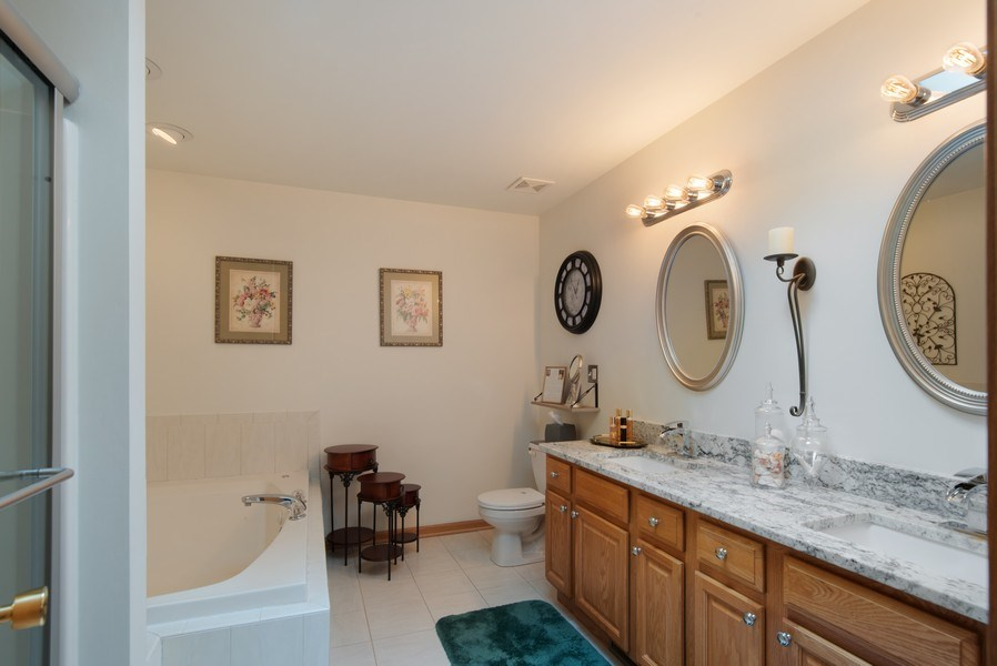 Real Estate Photography - 265 Mallards Cove, Beecher, IL, 60401 - Master Bathroom