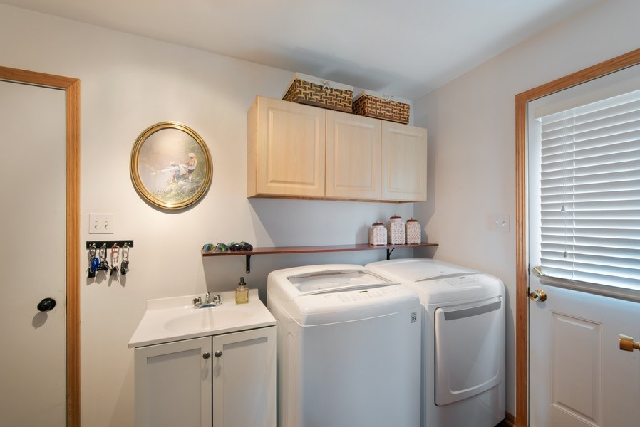 Real Estate Photography - 265 Mallards Cove, Beecher, IL, 60401 - Laundry Room